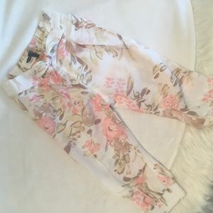 Other - Baby Girls Floral Tie Pants